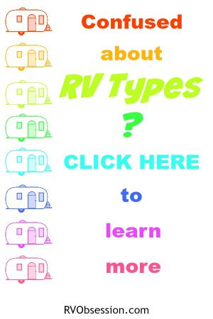 Understanding the different types of RVs can be a confusing process. Read this post which explains the different types of RVs and the benefits of the different types. We cover Class A, C & B, travel trailers, fifth wheel, truck camper, tent trailer and toy hauler. Phew, no wonder we're confused!