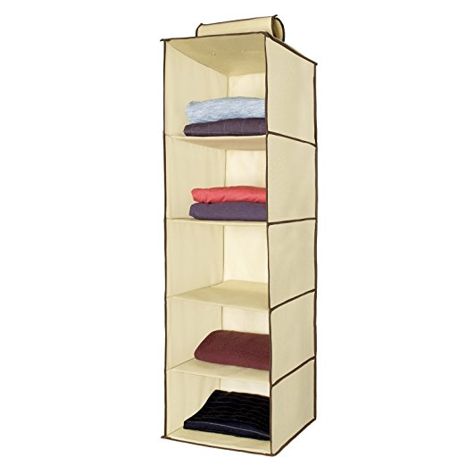 Storage ideas for RV Closets - When you don't have enough space for all your clothes but you still want to look nice while traveling, it's important to organize what space you do have! Try a hanging storage cubby. These are really simple and inexpensive.