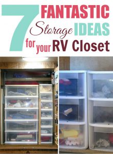 Storage ideas for RV Closets - When you don't have enough space for all your clothes but you still want to look nice while traveling, it's important to organize what space you do have!