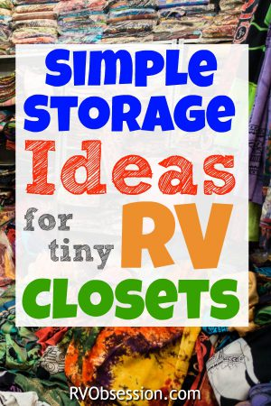 If you're looking for the best way to utilize the small space in your RV closet / wardrobe, then click here to read all about some simple, but effective storage solutions for your RV closet.