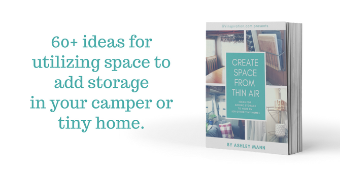 Small Kitchen Storage Ideas - Get more storage ideas and create space out of thin air with this awesome ebook: Create Space from Thin Air: Ideas for Adding Storage to Your RV (or Other Tiny Home)
