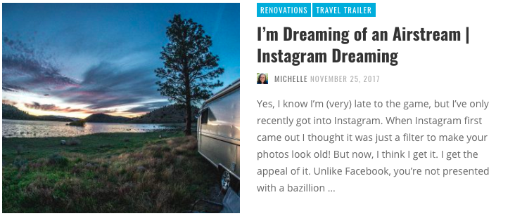 Airstream Renovations - Renovating a used airstream delivers that perfect RV that has all the features that are most important to you. With some design flair, these homes on wheels are both beautiful and functional. Now check out these Airstream instagram accounts, that keep the passion going!