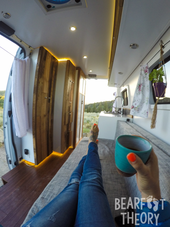 Sprinter Van Conversions - I love the idea of living so small and mobile, but with all the creature comforts of home. Kristen's van looks so spacious yet homely to me.