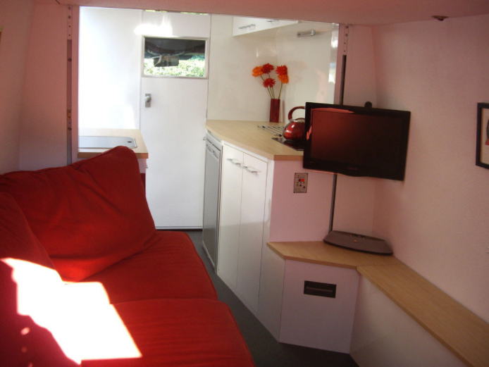 Sprinter Van Conversions - I love the idea of living so small and mobile, but with all the creature comforts of home. Mark has designed this sprinter van to be super comfortable when the weather forces you inside, but it looks so stylish and comfortable at the same time!