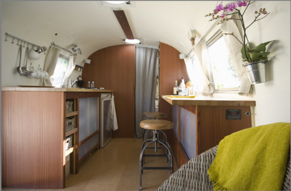 Airstream Renovations - Creating a open, airy and zen-like space was important to this client, and I think they achieved just that.