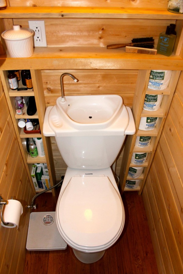 Small Bathroom Storage Ideas - If you've got extra space around your toilet, why not build out some shelves to utilize the space.