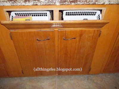 Small Kitchen Storage Ideas - Create a hideaway in false sink fronts. When you need to utilize all the space you can in your small RV kitchen.