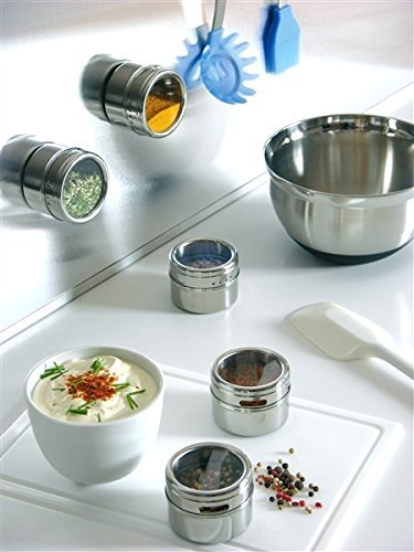 Small Kitchen Storage Ideas - Use magnetic spice containers - when you need to utilize all the space you can in your small RV kitchen.