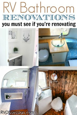 RV Bathroom Renovations - If you're looking to renovate your RV, then check out these RB bathroom renovations for some inspiration and ideas.
