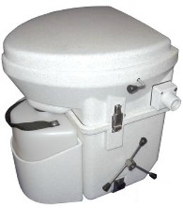 RV Toilets - the composting toilet is becoming more and more popular for RVers as it does not need a black tank and uses no water.