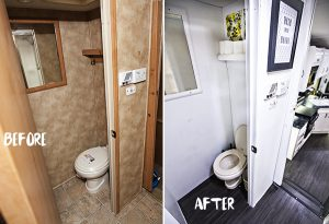 RB Bathroom Renovations - from boring to bright... with something as simple as a coat of paint