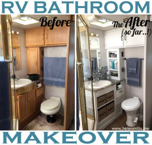 RV Bathroom Renovations - Once again, a coat of paint makes a world of difference