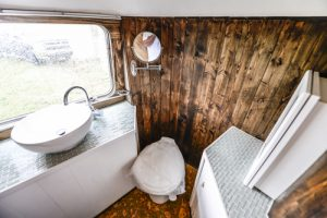RV Bathroom Renovations - an usual but very cool airstream bathroom renovation