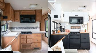 RVObsession.com - RV Renovations | Motorhome Renovations - when you need some inspiration for your travel trailer renovations. Mountain Modern Life.