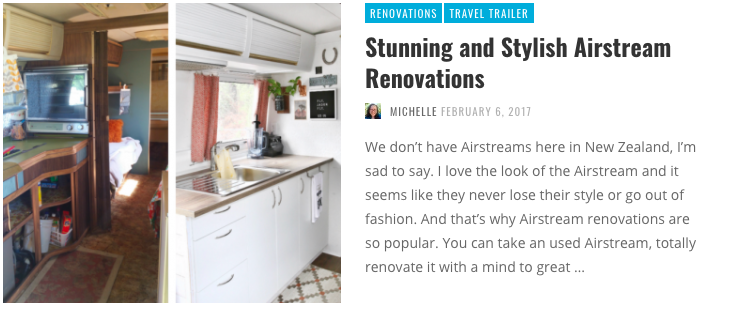 I'm Dreaming of an Airstream | Instagram Dreaming - If you also love seeing renovations of Airstreams then you'll love this collection of some of the best!