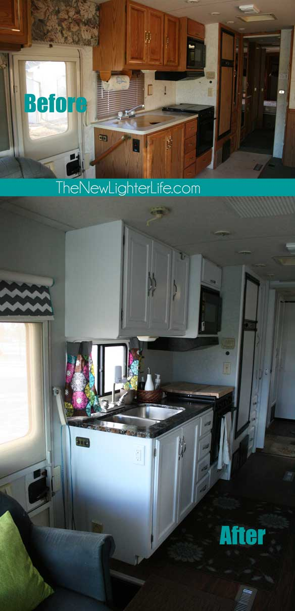 RVObsession.com - RV Renovations | Motorhome Renovations - Check out these RV renovations and motorhome renovations, taking these tired rv from drab to fab! The New Lighter Life