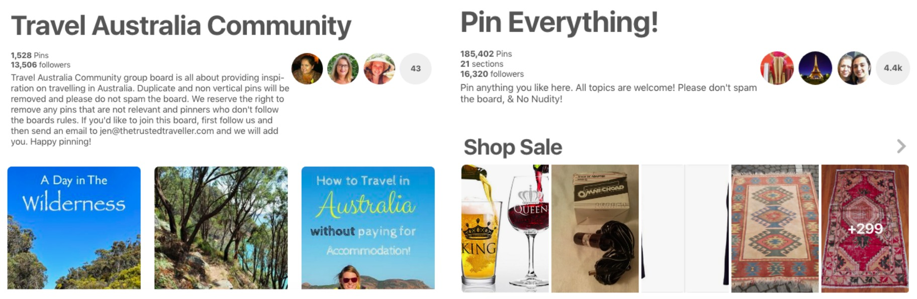 How to use Pinterest to send traffic to your blog - When joining group boards you want to stick to your niche as much as possible. The very large and very generic 'pin everything' boards will not be as beneficial as the on-niche boards (even if they are smaller).