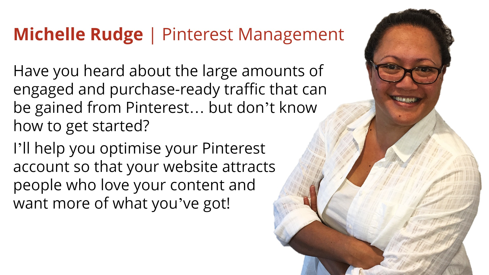Michelle Rudge | Pinterest Management Services
