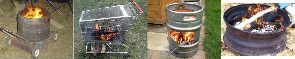 Homemade outdoor portable fire pits
