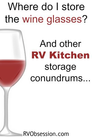 RV Kitchen Storage Solutions - for tips and great ideas for how to store everything in your small RV kitchen, so that you can easily find it and use it.