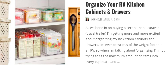 Organize your RV kitchen cabinets and drawers