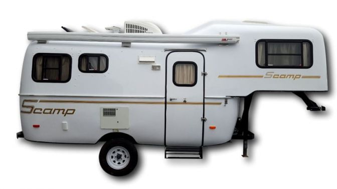 Scamp 19ft Fifth Wheel side profile