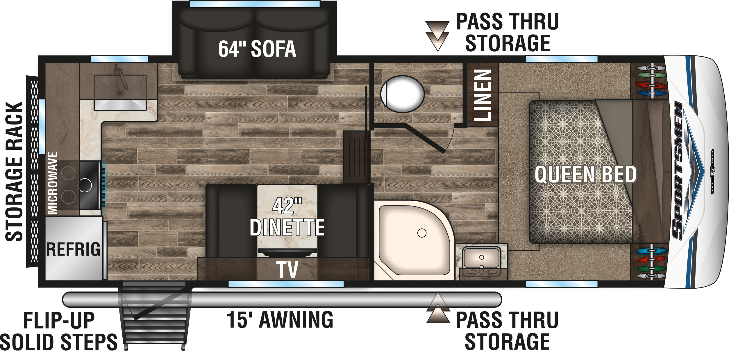 KZ Sportsmen Fifth Wheel layout