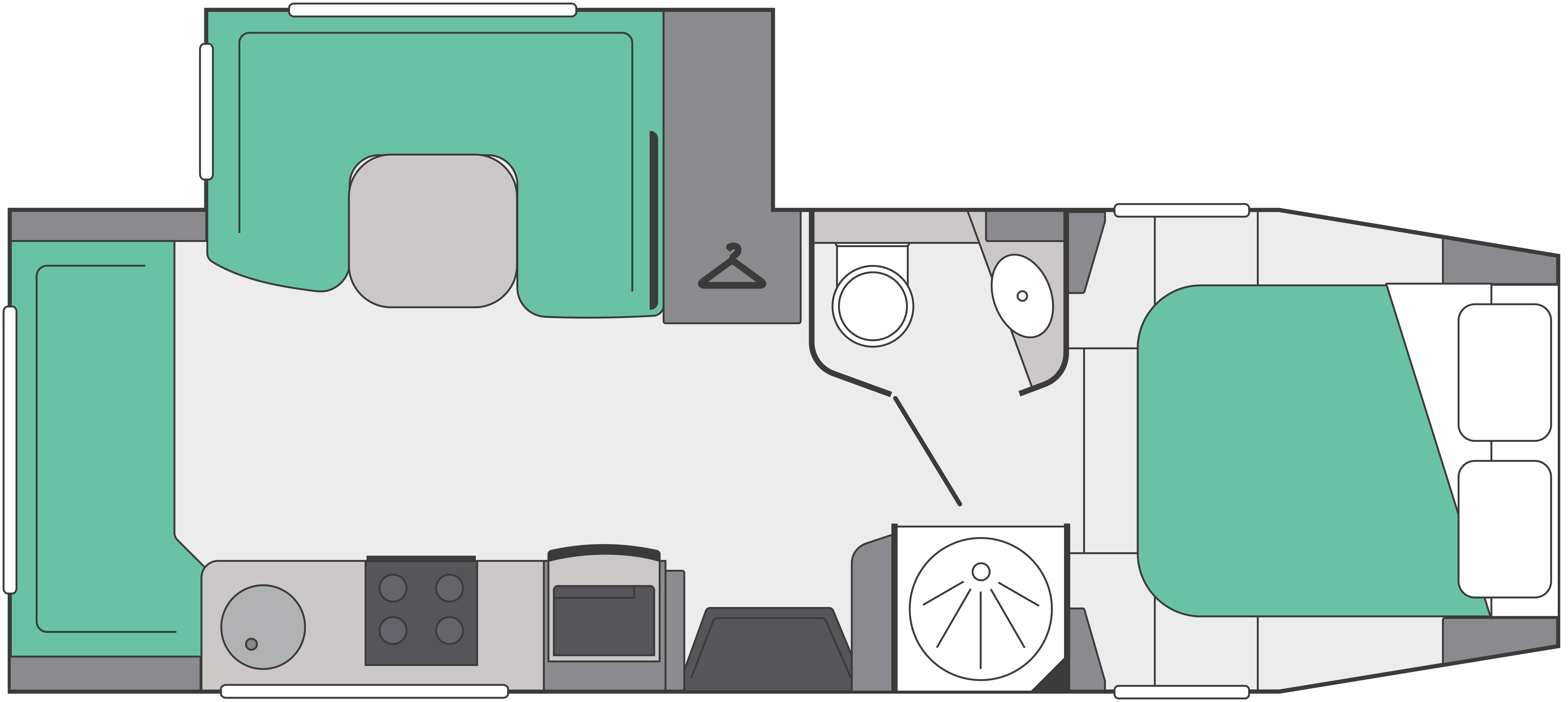 Fifth Wheel Co Dreamseeker layout