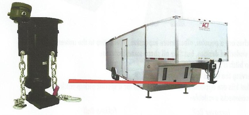 Trailer showing gooseneck coupler.