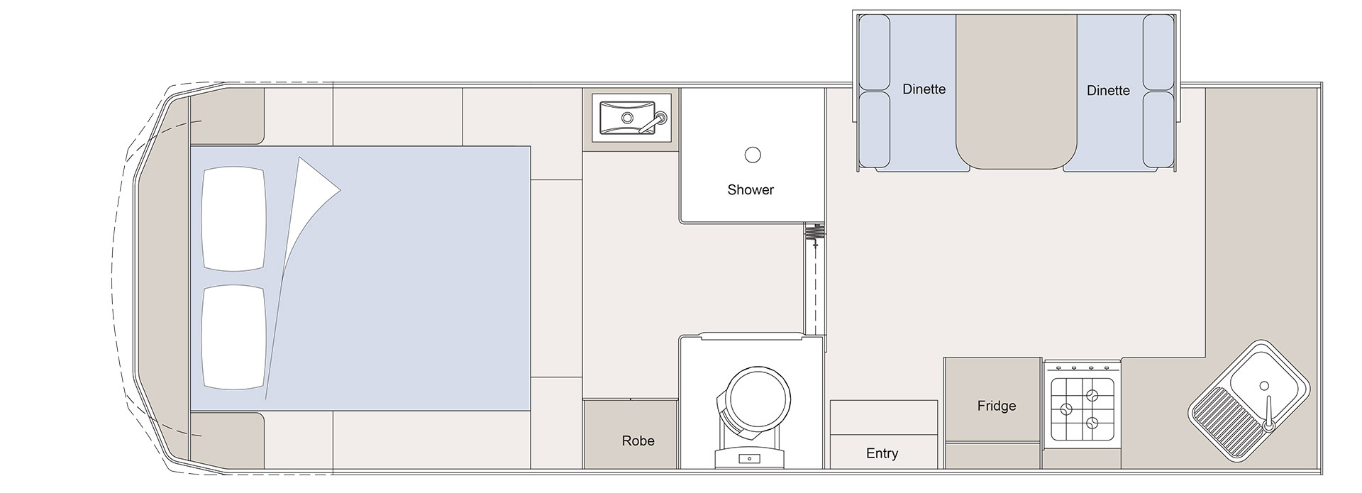 Sunliner Northshore Fifth Wheel layout