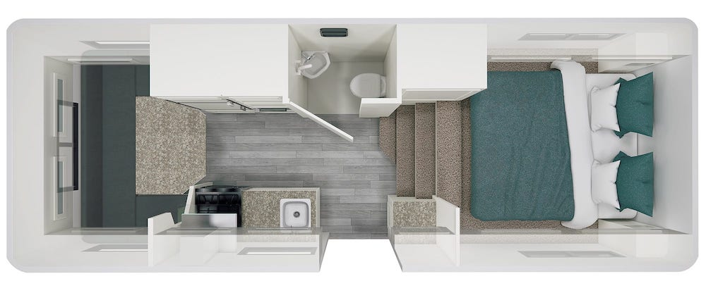 Floor plan of small Escape 5.0 fifth wheel camper