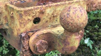 rusty trailer hitch