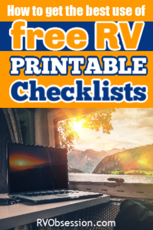It is a picture of Rv Checklist Printable with campsite
