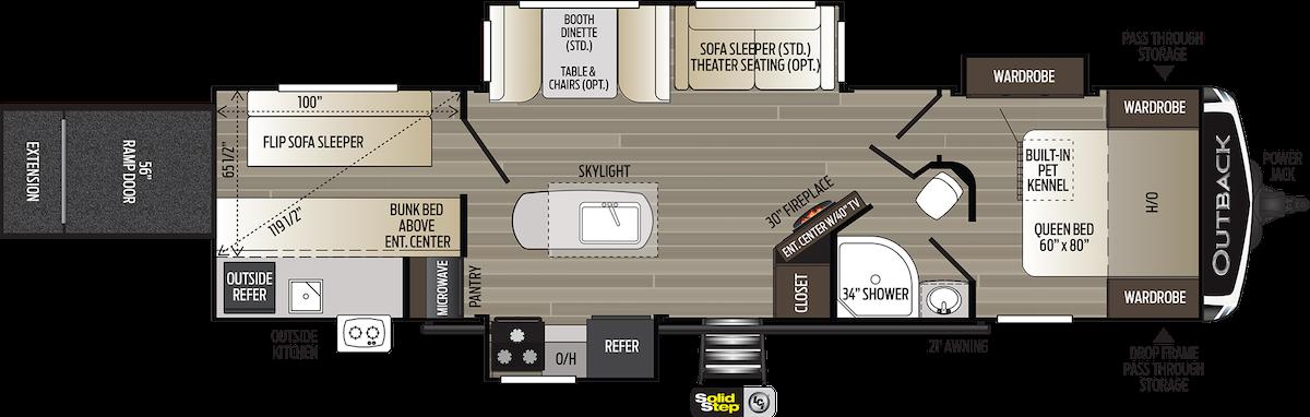 Keystone Outback 335CG toy hauler