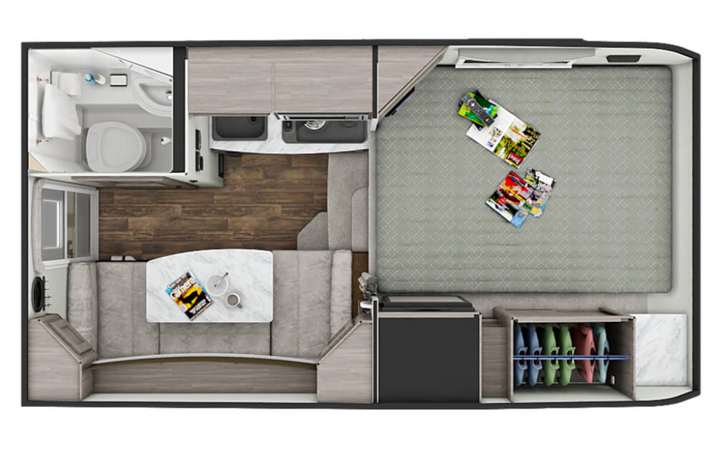 Lance slide on truck camper floorplan