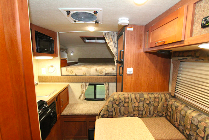 Bigfoot 1500 Series truck camper interior