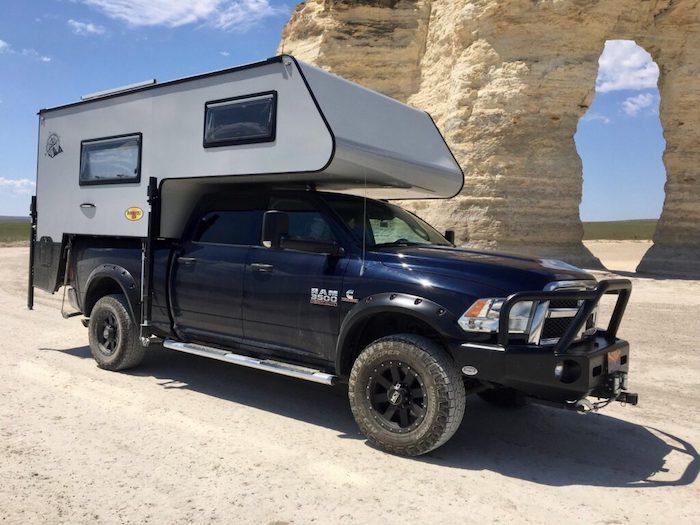 Exterior of a Bundutec Roadrunner truck camper