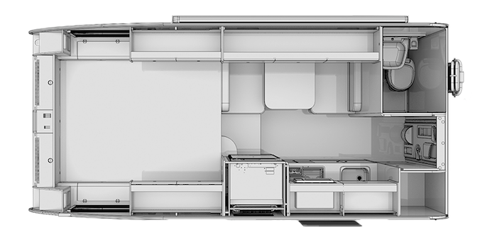 Floorplan of a Cirrus 820 Truck Camper