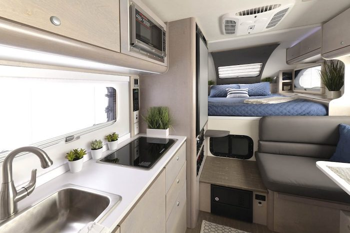 Interior of Cirrus 820 Truck Camper