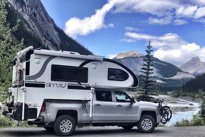 Exterior of Cirrus 820 Truck Camper