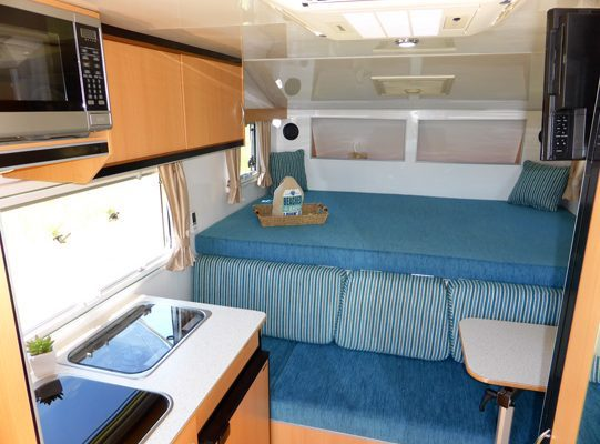 Ozcape Shorta truck camper interior view