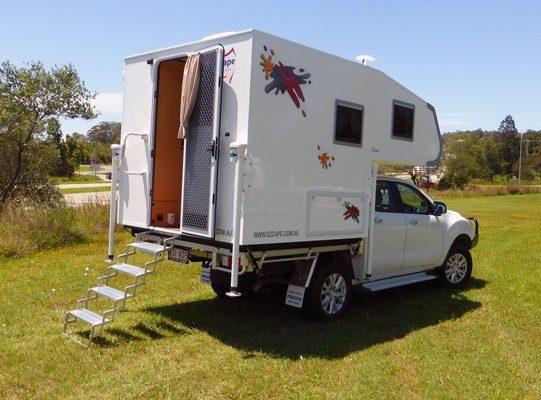 Ozcape Shorta truck camper exterior view