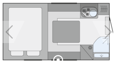 Tischer Trailbox 240 truck camper layout