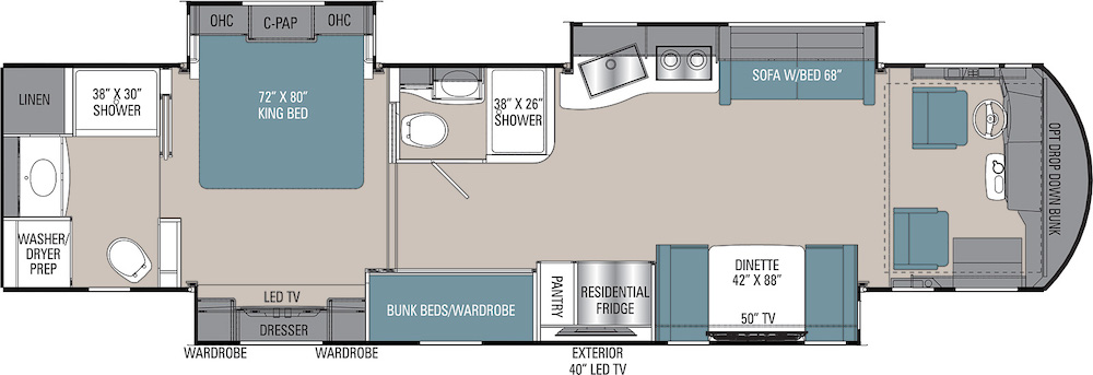 Coachmen RV Sportscoach 402TS layout