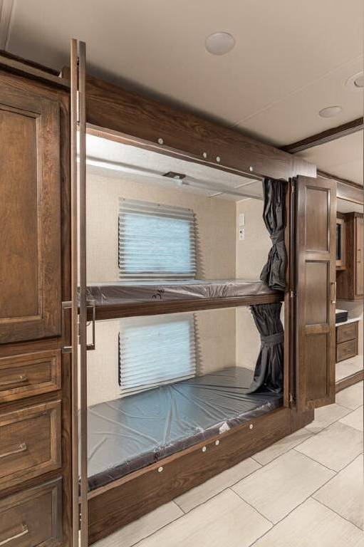 Interior view of the bunks in the Coachmen RV Sportscoach