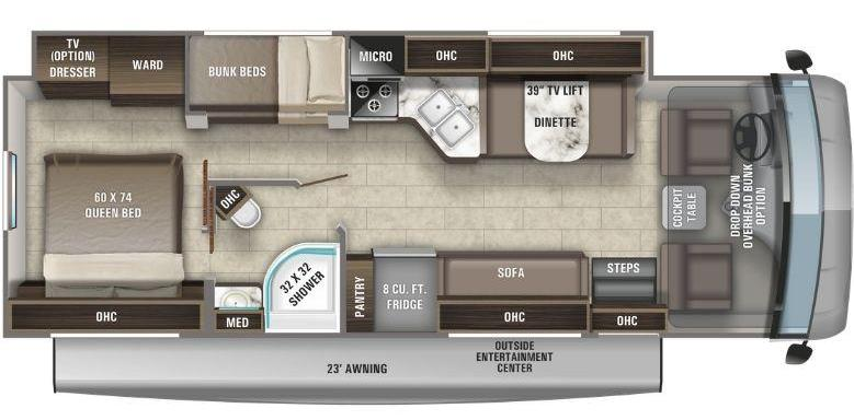 Entegra Coach Vision RV layout