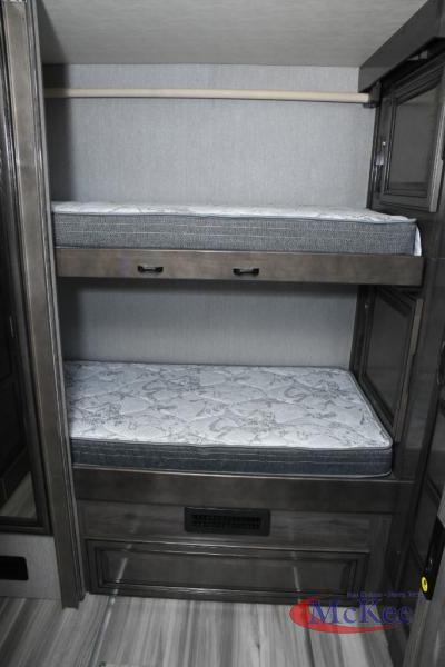 Bunks inside the Holiday Rambler Nautica 35QZ