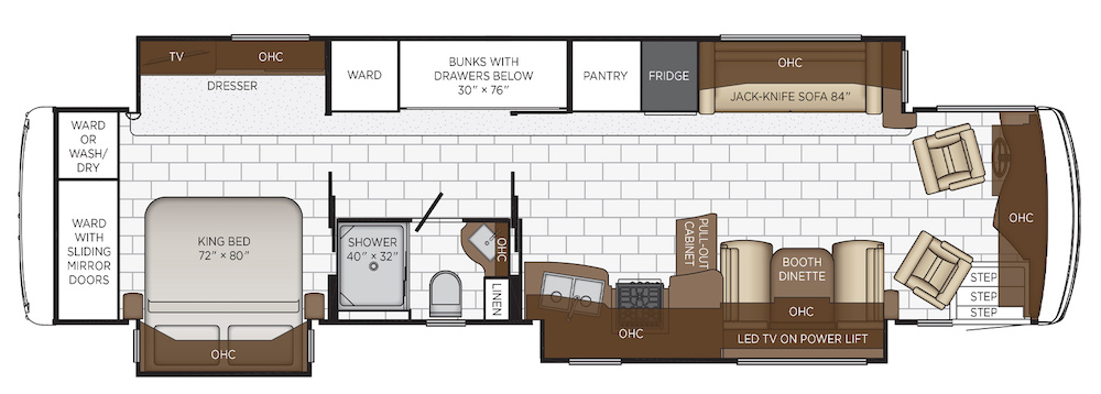 Layout plan - Newmar Kountry Star 4045