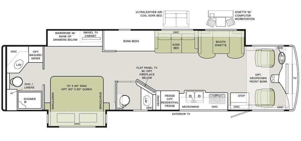 Tiffin Open Road Allegro RV floorplan