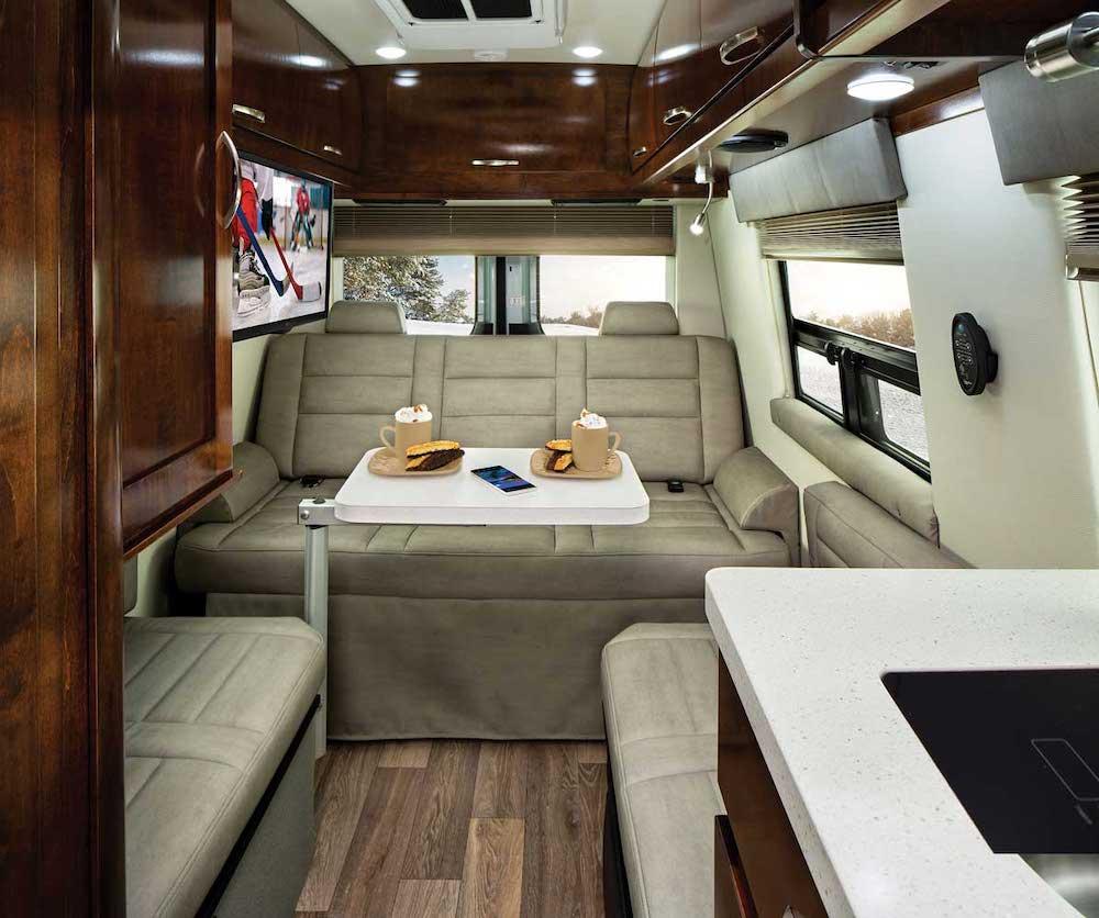 Rear sofa in the Coachmen Galleria 24Q.
